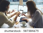 creative female it developers... | Shutterstock . vector #587384675