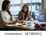 skilled female ceo of marketing ... | Shutterstock . vector #587385041