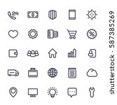 icons for web in line style...