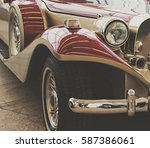 stunning retro car. stylish... | Shutterstock . vector #587386061