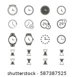 clock icons set.