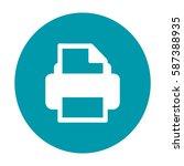 flat vector printer icon | Shutterstock .eps vector #587388935