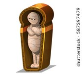 cartoon egyptian mummy in... | Shutterstock .eps vector #587397479