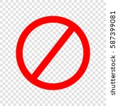 empty ban sign. vector. red... | Shutterstock .eps vector #587399081