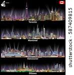 vector illustrations of toronto ... | Shutterstock .eps vector #587409815
