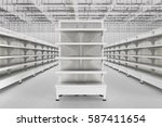 store interior with empty... | Shutterstock . vector #587411654