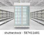 store interior with empty... | Shutterstock . vector #587411681