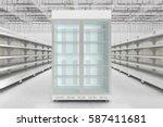 store interior with empty... | Shutterstock . vector #587411681