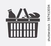 shopping basket icon | Shutterstock .eps vector #587413034