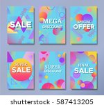 sale posters set in trendy 80s