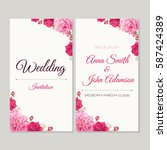 wedding invitation  thank you... | Shutterstock .eps vector #587424389