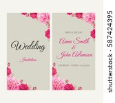 wedding invitation  thank you... | Shutterstock .eps vector #587424395