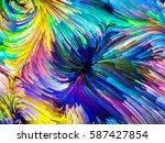 digital paint series. swirls of ... | Shutterstock . vector #587427854