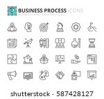 outline icons about business...   Shutterstock .eps vector #587428127