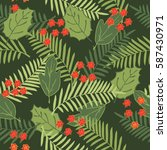 tropical seamless pattern with... | Shutterstock .eps vector #587430971