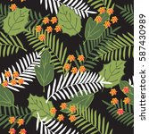 tropical seamless pattern with... | Shutterstock .eps vector #587430989