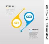horizontal steps timeline... | Shutterstock .eps vector #587438405