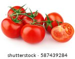 Bunch Of Red Tomato Vegetable...