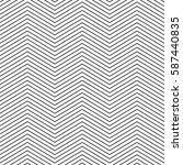 stylish linear chevron.... | Shutterstock .eps vector #587440835