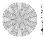 hand drawn mandalas. decorative ... | Shutterstock .eps vector #587443757