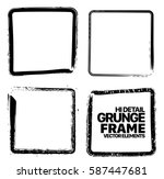 grunge frame texture set  ... | Shutterstock .eps vector #587447681
