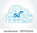 5g iot internet of things smart ... | Shutterstock .eps vector #587453345
