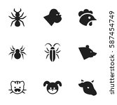 set of 9  animal icons....