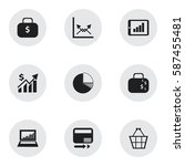 set of 9  logical icons....