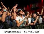 barcelona   jun 17  the crowd... | Shutterstock . vector #587462435