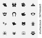 set of 16  animal icons....