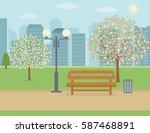 Spring Landscape Background....