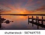 last sunrise | Shutterstock . vector #587469755