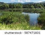 amazing summer landscape of... | Shutterstock . vector #587471831