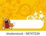 fox cartoon background in... | Shutterstock .eps vector #58747234