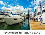miami beach  fl usa   february... | Shutterstock . vector #587481149