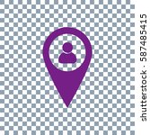 location people icon on... | Shutterstock .eps vector #587485415
