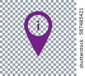 location icon vector on...
