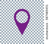 location icon vector on... | Shutterstock .eps vector #587485451
