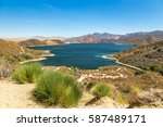 a view of the pacific crest... | Shutterstock . vector #587489171