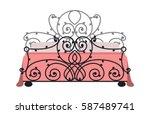 exclusive sleeping furniture...   Shutterstock .eps vector #587489741