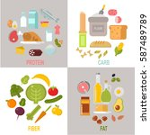 healthy nutrition  proteins... | Shutterstock .eps vector #587489789