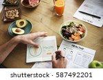 wellness wellbeing health... | Shutterstock . vector #587492201
