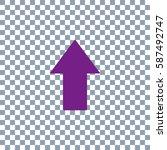 arrow icon on transparent...