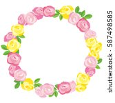 Vector Round Frame Of Roses....