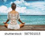 young beautiful healthy woman... | Shutterstock . vector #587501015