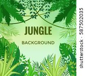 jungle background. jungle trees ... | Shutterstock .eps vector #587502035
