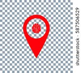 location brain icon vector on...