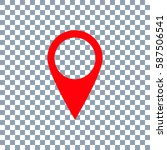 location icon vector on... | Shutterstock .eps vector #587506541