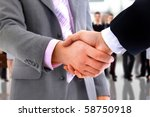 handshake isolated on business... | Shutterstock . vector #58750918
