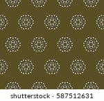 creative geometric seamless... | Shutterstock . vector #587512631